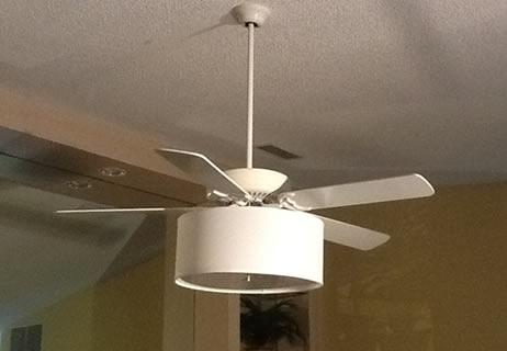 Ceiling Fan Linen Drum Shade Light Kit