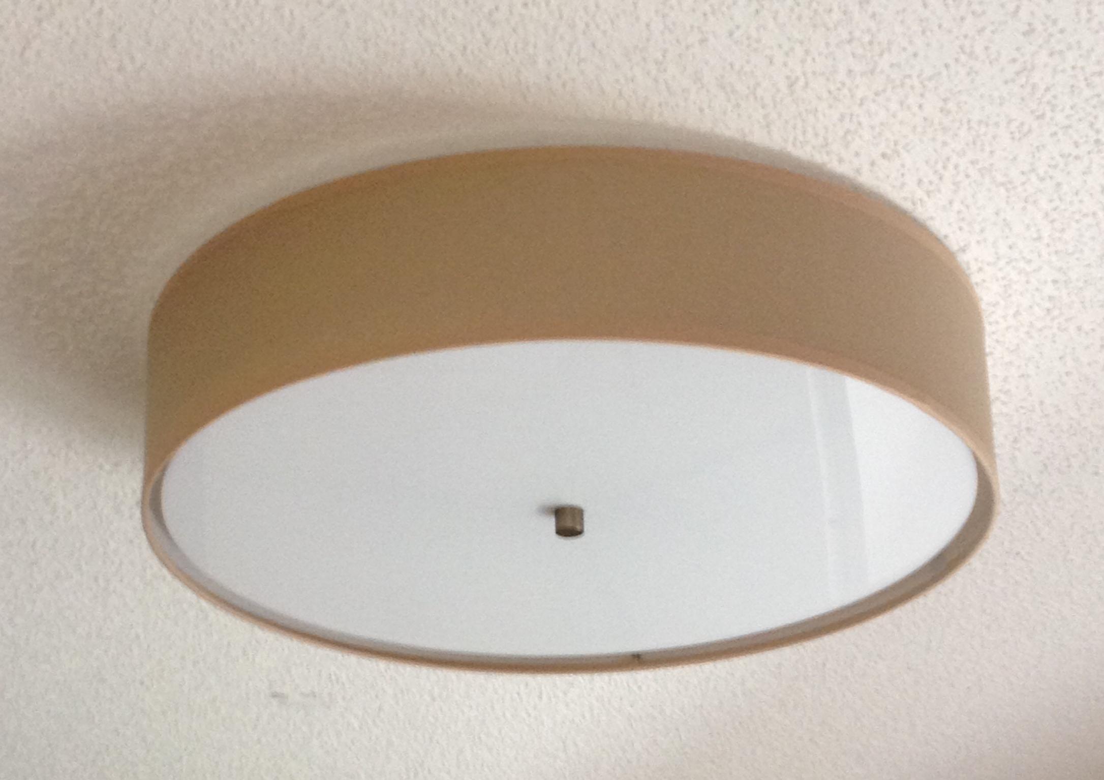 Flush mount linen drum shade light fixture st lighting llc aloadofball Choice Image