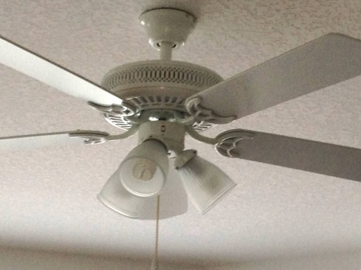 Ceiling Fan Before Lightkit